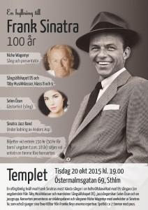 Frank SInatra 100 år - konsertaffisch