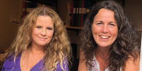 Musiklärarna Gitte och Ceclilia